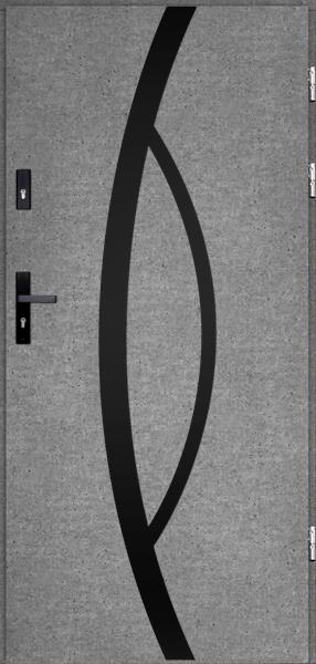 drzwi Polstar Kastor noir - Comfort 73